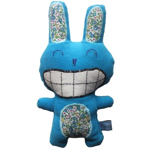 doudou lapin bleu liberty eloise