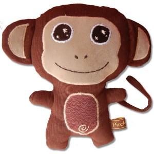 doudou singe marron